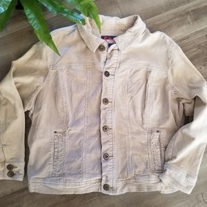 Wah Jean's tan courdaroy button up jacket size 1x
